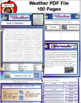 Weather PDF- 100 Pages- Hurricanes, Tornadoes, Blizzards, etc.