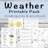 Weather Printable Pack {Preschool & Kindergarten}