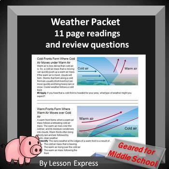 Weather Packet -- 11 page Readings and Review Questions