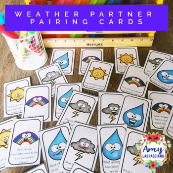 Weather Partner Pairing Cards With Engagement Questions