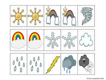 Weather Pattern Cards