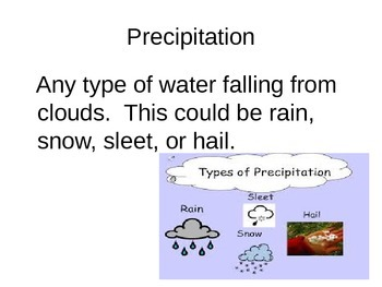 Weather Patterns Vocabulary Powerpoint