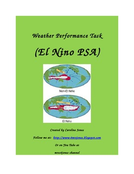 Weather Performance Task:  El Nino PSA