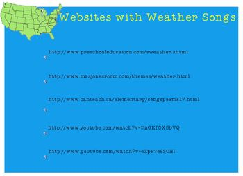 Weather Person Smart Notebook Calendar Time & Solo Singing Activity