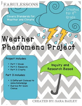 Weather Phenomena and Climate Project