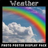 Weather Vocabulary Posters | Real Photos | Science Display