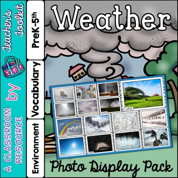 Weather Photo Poster Display Pack {UK Teaching Resource}