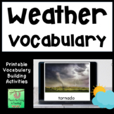 Weather Photo and Word Cards  (ELL, ELD, ESL)