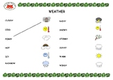 Weather Picture-Word Match - 1 Page