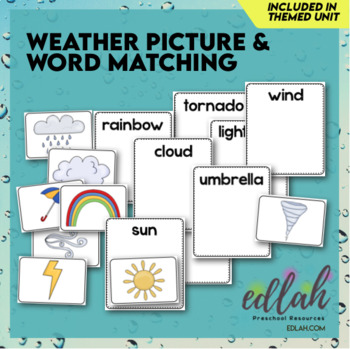 Weather Picture and Word Matching