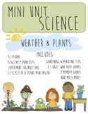Weather & Plant Lessons!! Science Mini Unit!!