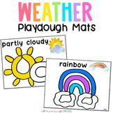 Weather Playdough Mats | Fine Motor Weather Thematic Unit Activity for Preschool