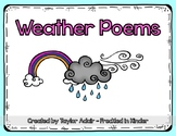 Weather Poetry Pack