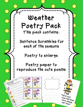 Weather Poetry Packet