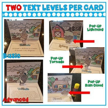 Weather Pop-Ups (10 Weather Related Pop Up Cards) Reading or Writing Activity