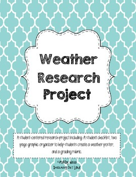 Weather Poster Research Project