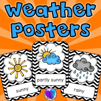 Weather Posters By Love Believe Teach With Jo Ellen Foody