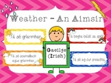 Weather Posters - An Aimsir - as GAEILGE/IRISH