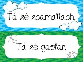 Weather Posters - An Aimsir - as GAEILGE/IRISH