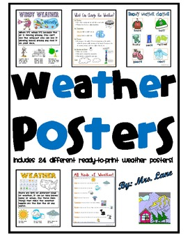 Weather Posters (Includes 24 Different Ready-To-Print Weather Posters!)