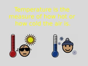 Weather Power Point & Word Wall Cards