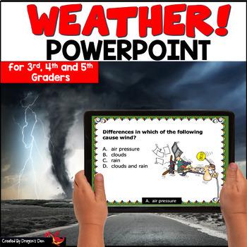 weather powerpoint by dragons den teachers pay teachers