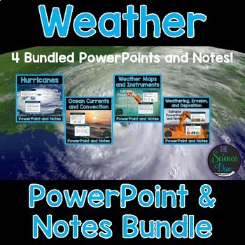 weather powerpoint and notes bundle by the science duo tpt