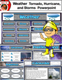 Weather Powerpoint - 100 Slides - Tornado, Hurricane, Storms, Science Education