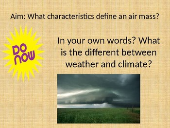 Weather Powerpoint EDITABLE