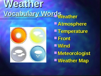 Weather Powerpoint for Primary Grades 12 slides