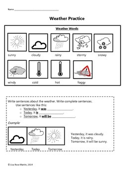 Weather Practice Worksheet - FREE!