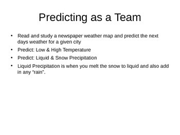 Weather Predicting Forcast Contest (fun activity)