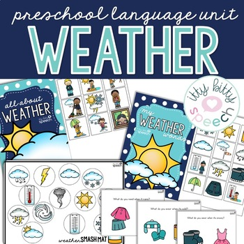 FREEBIE Weather Preschool Language Unit