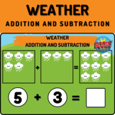 Weather Preschool Math Boom Cards - Addition and Subtraction
