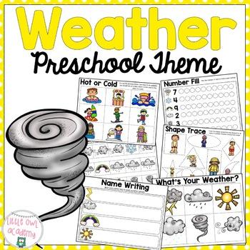Weather Preschool Packet