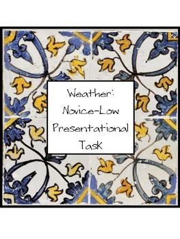 Weather Presentational IPA Task: Novice-Low