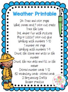 Weather Printable