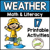 Weather Printable Math & Literacy Activities for Pre-K, Pr