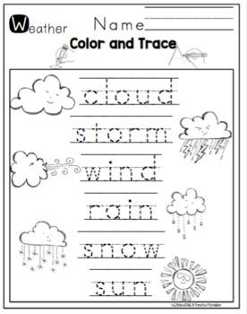 "Weather Printable ""No Prep"""