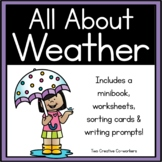 Weather {Printable writing prompts, mini book, & posters}