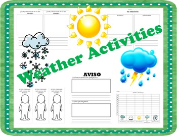 Weather Printables (SPANISH)