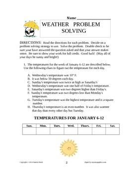 Weather Problem Solving