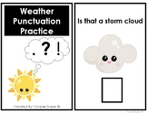 Weather Punctuation Adapted Book