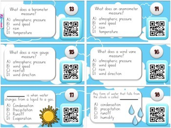 Weather QR Code Task Cards