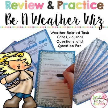 Higher Level Weather Questions: Task Cards, Fan Strips, an
