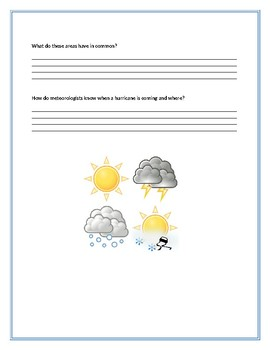 Weather Questions- Investigation 1