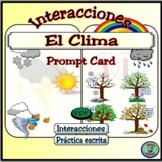 Weather Question and Response Prompt Card / Preguntas y respuestas del clima