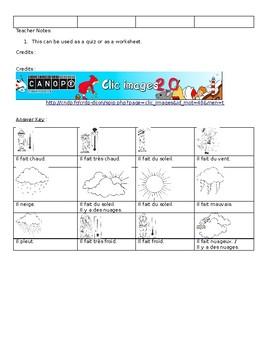 Quel temps fait-il? - French Weather Quiz