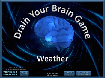 Weather Quiz - A PowerPoint Drain Your Brain Game