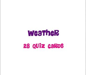 Weather Quiz Cards - Utah 4th Grade Science